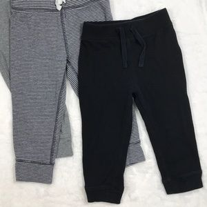 Carter's Bottoms - Set of Gray and Black Cotton Joggers